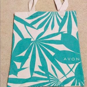 AVON Canvas Green Palm Tote Bag New In Package